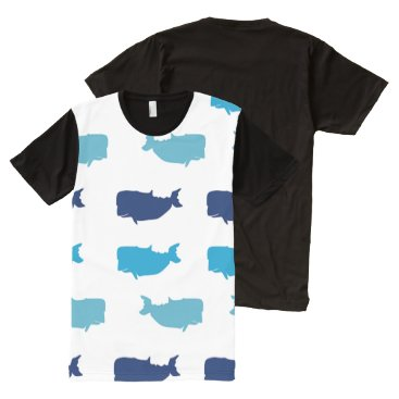 Beach Themed Whales All-Over-Print T-Shirt