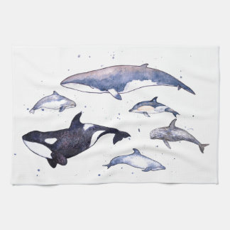 Whales and Dolphins of Scotland Hand Towel