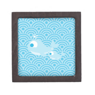 Whales and waves gift box