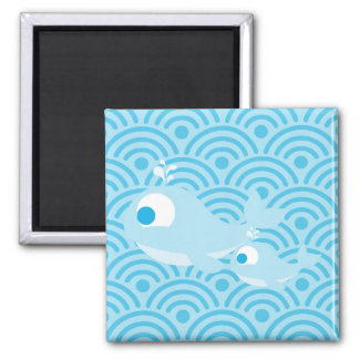Whales and Waves Magnet