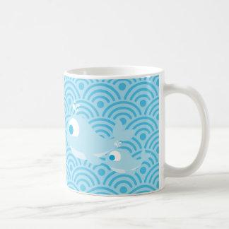 Whales and Waves Classic White Coffee Mug