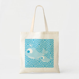 Whales and Waves Tote Bag