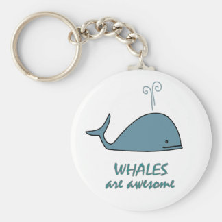 Whales are Awesome Keychain