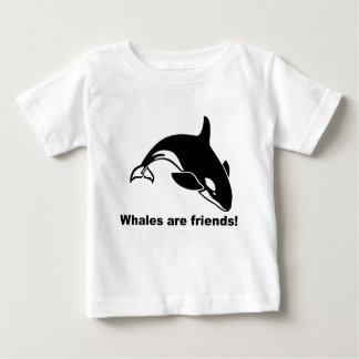 Whales Are Friends Baby T-Shirt