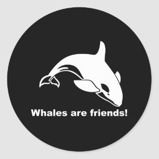 Whales Are Friends Classic Round Sticker