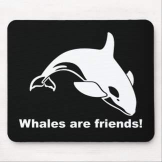 Whales Are Friends Mouse Pad
