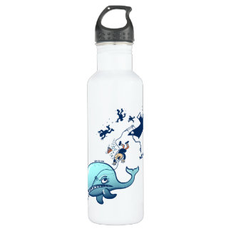 Whales are Furious! 24oz Water Bottle