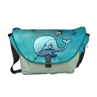 Whales are Furious! Messenger Bag
