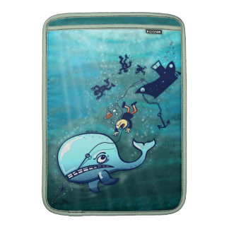 Whales are Furious! Sleeve For MacBook Air
