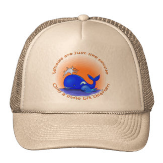 Whales Are Like People Products Hats