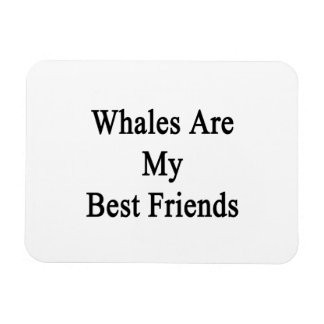 Whales Are My Best Friends Rectangular Photo Magnet