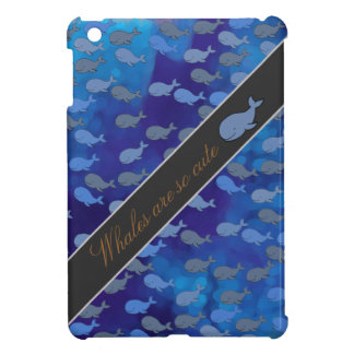whales are so cute iPad mini cases