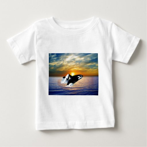 Whales at sunset baby T-Shirt