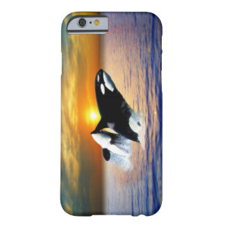 Whales at sunset barely there iPhone 6 case