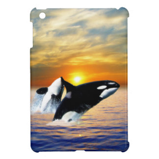 Whales at sunset case for the iPad mini