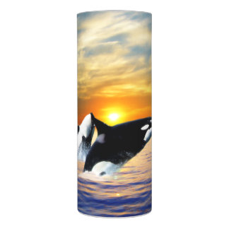 Whales at sunset flameless candle