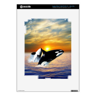 Whales at sunset iPad 3 skin