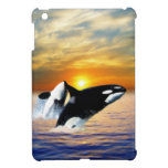 Whales at sunset iPad mini cases