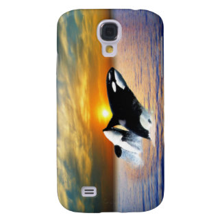 Whales at sunset samsung galaxy s4 cover