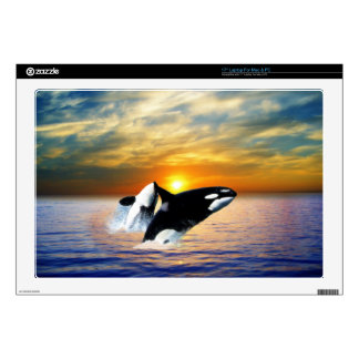 "Whales at sunset skins for 17"" laptops"