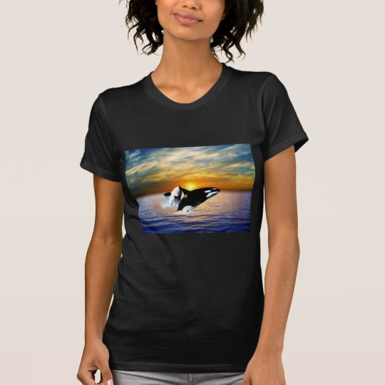 Whales at sunset T-Shirt