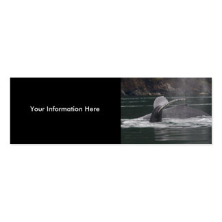 whales Double-Sided mini business cards (Pack of 20)