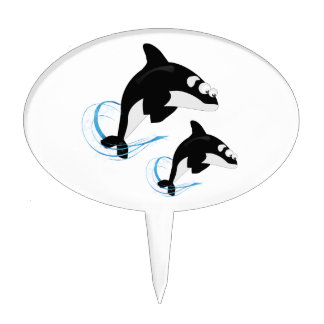 whales cake topper