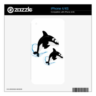 whales decals for the iPhone 4S