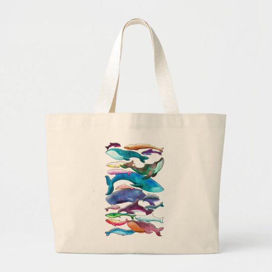 Whales, Dolphins & Porpoises Large Tote Bag