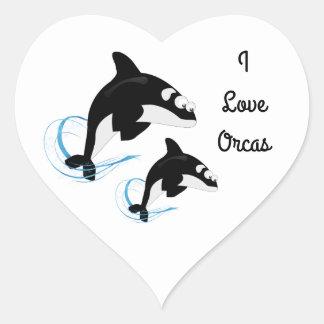 whales heart sticker