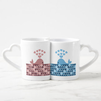 Whales in Love Coffee Mug Set