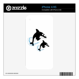 whales iPhone 4 skins