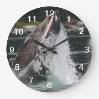 whales large clock