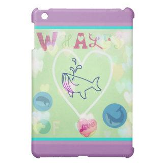 whales of love mini iPad case