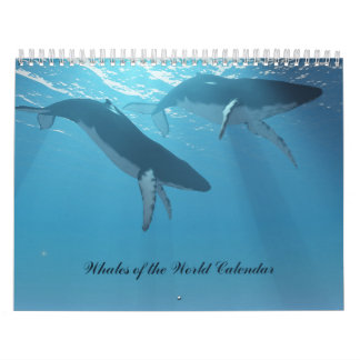 Whales of the World Calendar