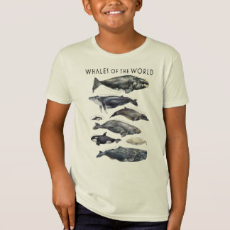Whales of the World Organic Unisex T-Shirt