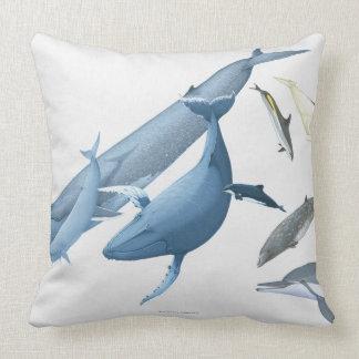 Whales Throw Pillows