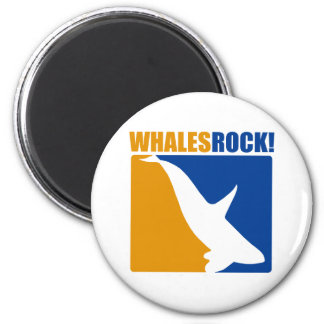 Whales Rock 2 Inch Round Magnet