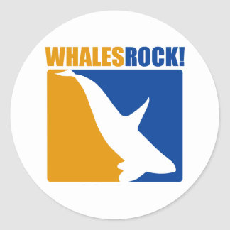 Whales Rock Classic Round Sticker