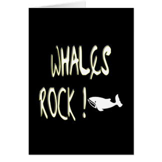 Whales Rock! Greeting Card