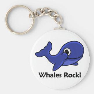 Whales Rock! Keychain