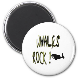 Whales Rock! Magnet