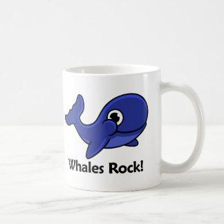 Whales Rock! Classic White Coffee Mug