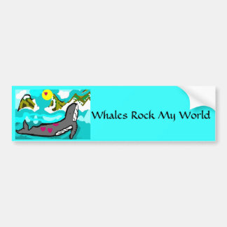 whales rock my world car bumper sticker