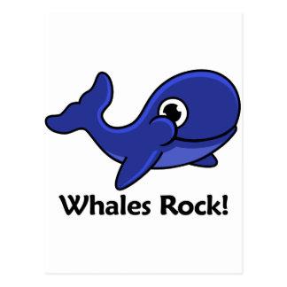 Whales Rock! Postcard