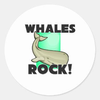 Whales Rock Classic Round Sticker