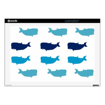 "Beach Themed Whales Skins For 17"" Laptops"