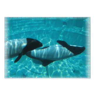 Whales Swimming Underwater Invitation