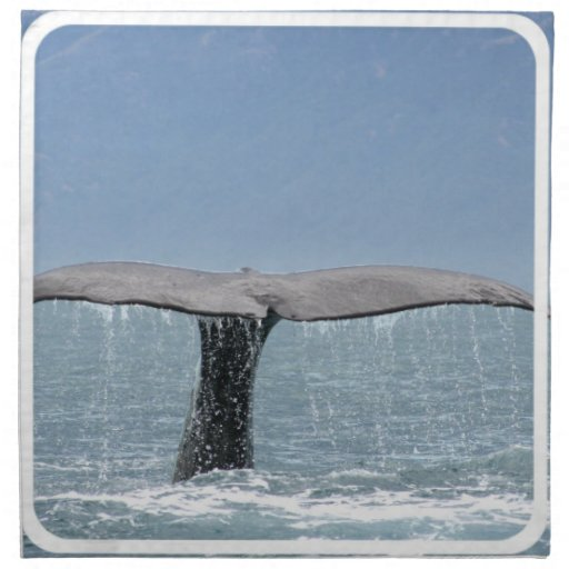 Whale's Tail Set of Four Napkins