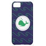 Whales Tale Green & Wavy Navy Phone Case iPhone 5C Case